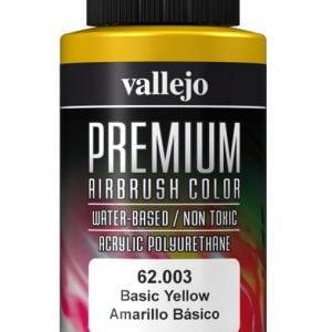Basic Yellow Premium Airbrush Colour by Vallejo 62003 60ml