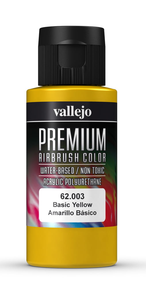 Basic Yellow Premium Airbrush Colour by Vallejo 62003 60ml
