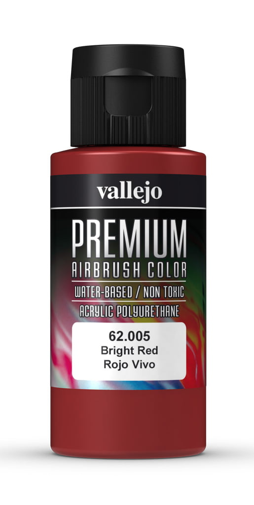 Bright Red Premium Airbrush Colour by Vallejo 62005 60ml