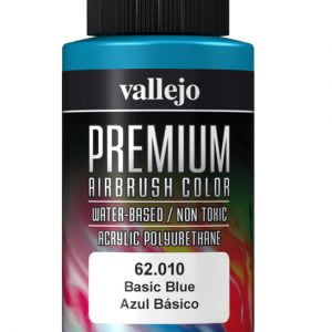 Basic Blue Premium Airbrush Colour by Vallejo 62010 60ml