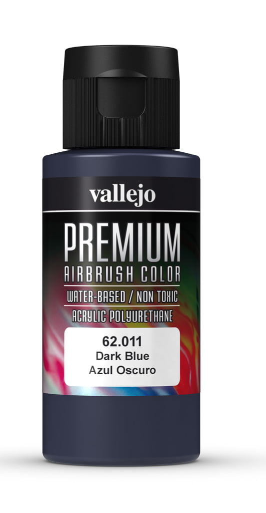 Dark Blue Premium Airbrush Colour by Vallejo 62011 60ml