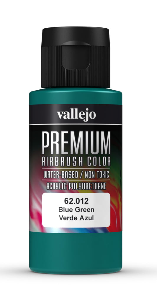 Blue Green Premium Airbrush Colour by Vallejo 62012 60ml