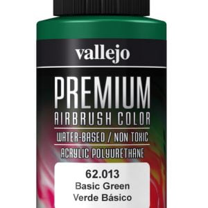 Basic Green Premium Airbrush Colour by Vallejo 62013 60ml