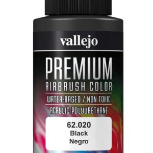 Black Premium Airbrush Colour by Vallejo 62020 60ml