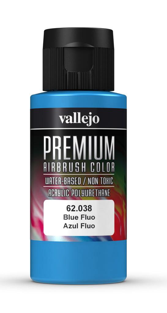 Blue Fluorescent Premium Airbrush Colour by Vallejo 62038 60ml