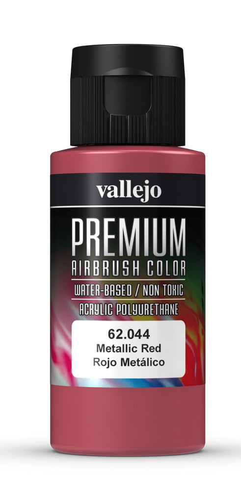 Metallic Red Premium Airbrush Colour by Vallejo 62044 60ml