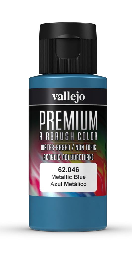Metallic Blue Premium Airbrush Colour by Vallejo 62046 60ml