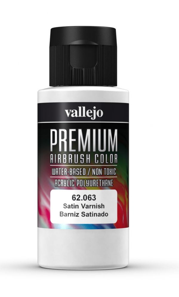 Satin Varnish Premium Airbrush Colour by Vallejo 62063 60ml