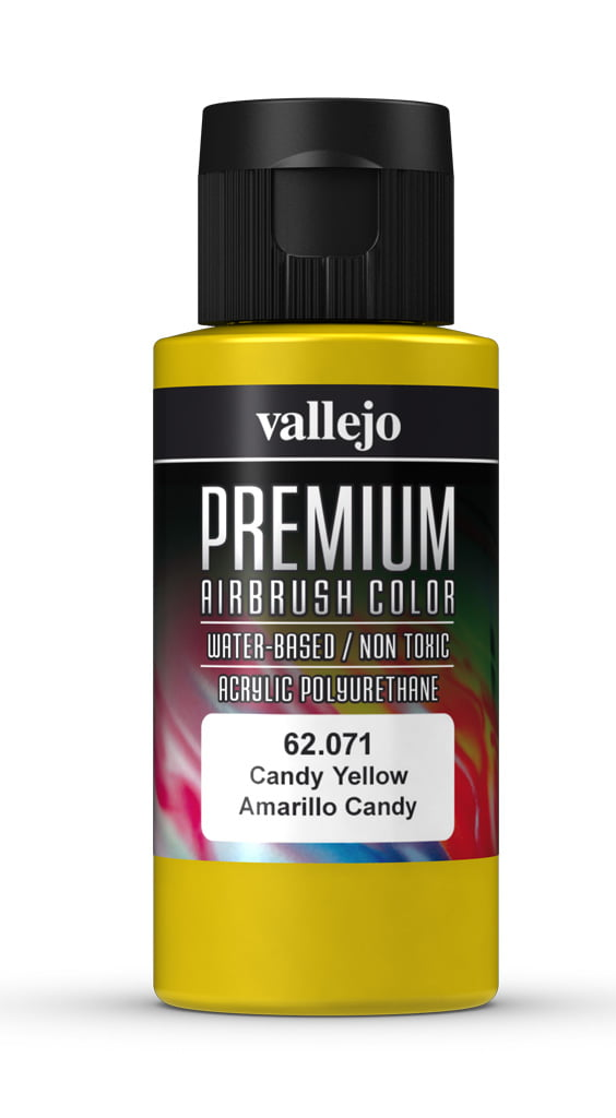 Candy Yellow Premium Airbrush Colour by Vallejo 62071 60ml