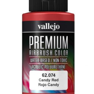 Candy Red Premium Airbrush Colour by Vallejo 62074 60ml