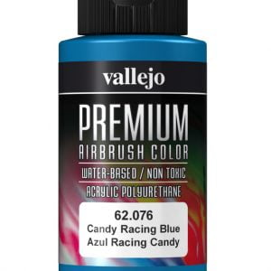 Candy Racing Blue Premium Airbrush Colour by Vallejo 62076 60ml