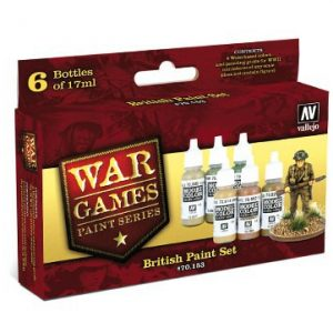 British Paint Set 6 Colors by Vallejo 70153