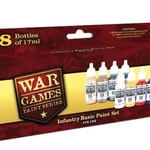 Infantry Basic Paint Set 8 Colors by Vallejo 70156