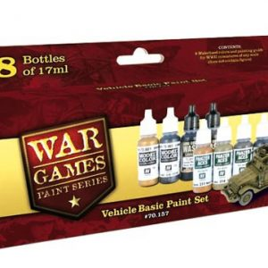 Vehicle Basic Paint Set 8 Colors by Vallejo 70157