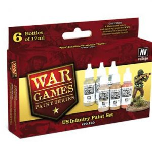 US Infantry Paint Set 6 Colors by Vallejo 70160