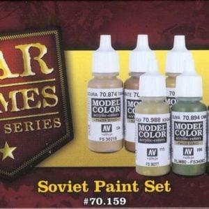 Soviet Wargames Paint Set 6 Colors by Vallejo 70159