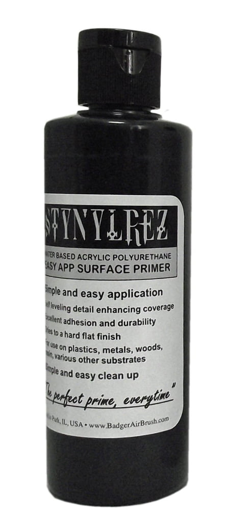 Black Stynylrez Primer by Badger Airbrush SNR-403 4oz 120ml