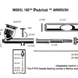 Schematics Badger Airbrush Xtreme Patriot 105-XTR