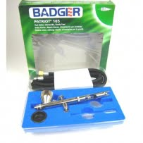 Badger Air-Brush 105 Patriot Fine Gravity Airbrush with Hose 105-BWH