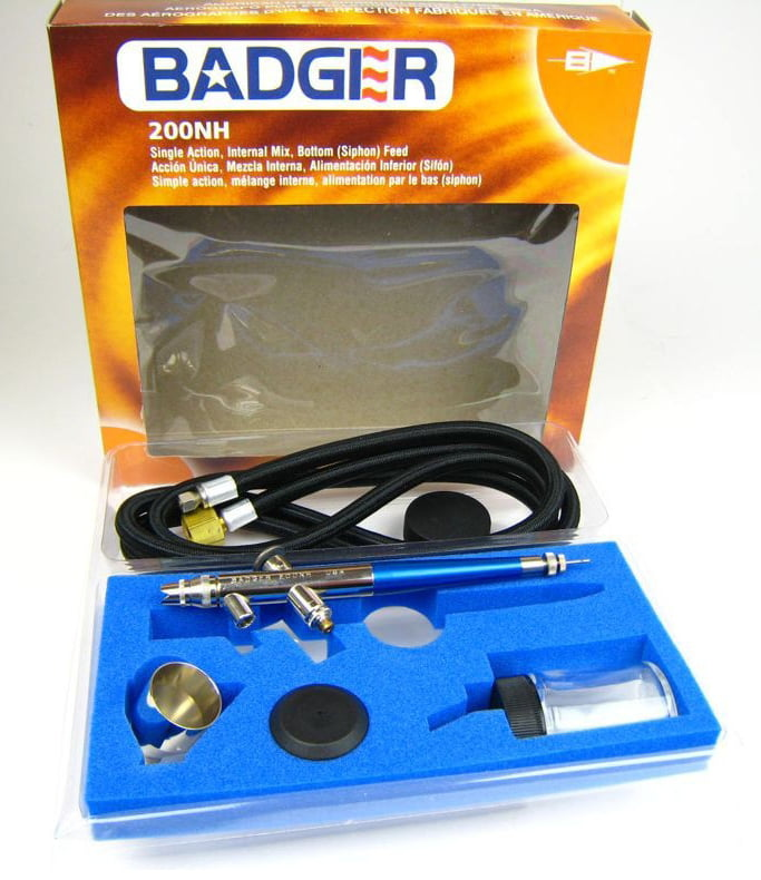 Contents BADGER 200NH Airbrush Set with Hose Jars 200-BWH