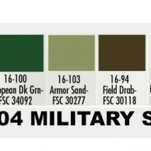 Chart Modelflex Paint Set by Badger Military Colors 1704