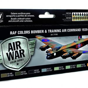 RAF Colors Bomber & Training Air Command 1939-1945 Paint Set by Vallejo 71145