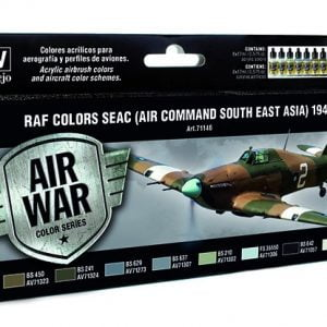 RAF Colors SEAC Air Command South East Asia 1942-1945 Paint Set by Vallejo 71146
