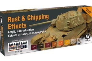 Rust & Chipping Effects Paint Set by Vallejo 71186