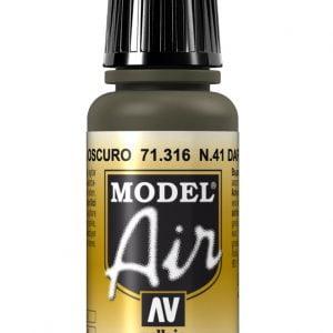Vallejo Model Air Color Colour No41 Dark Olive Drab 71316