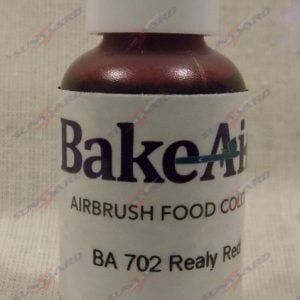 Bake-Air Really Red Bakery Artisan Color by Badger Airbrush 0.7 Oz BA-702