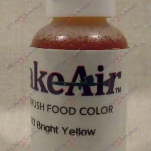 Bake-Air Bright Yellow Bakery Artisan Color by Badger Airbrush 0.7 Oz BA-703