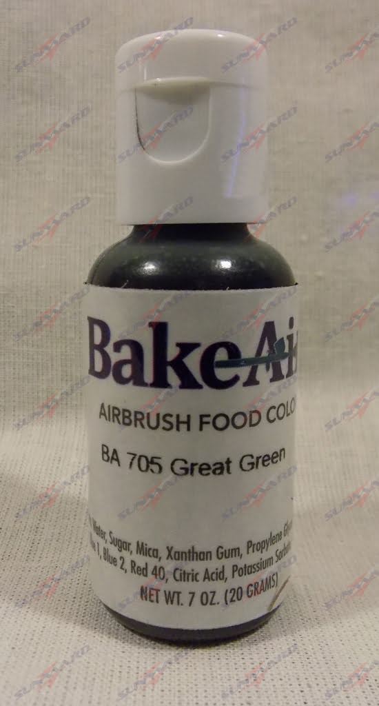 Bake-Air Great Green Bakery Artisan Color by Badger Airbrush 0.7 Oz BA-705