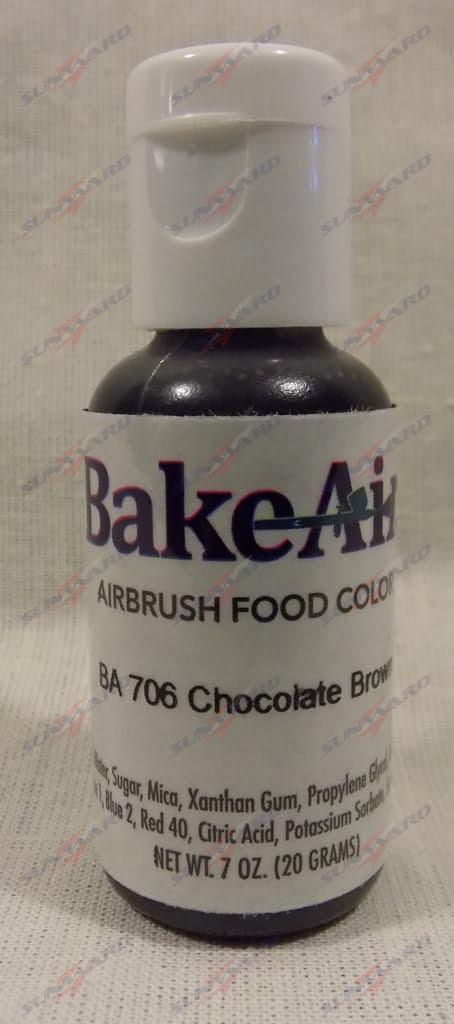Bake-Air Chocolate Brown Bakery Artisan Color by Badger Airbrush 0.7 Oz BA-706