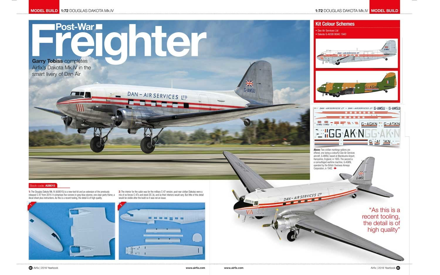 Airfix Yearbook 2016 Catalogue inside more planes