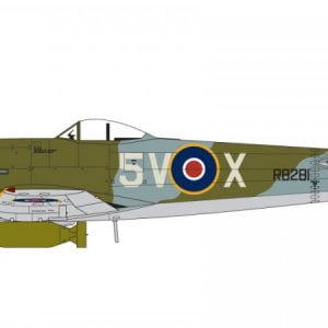 Markings two Airfix Hawker Typhoon Ib 1:72 Scale A02041