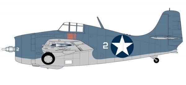 Markings Airfix Grumman F4F-4 Wildcat 1:72 Scale A02070