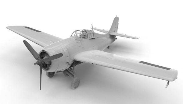 Front Airfix Grumman F4F-4 Wildcat 1:72 Scale A02070