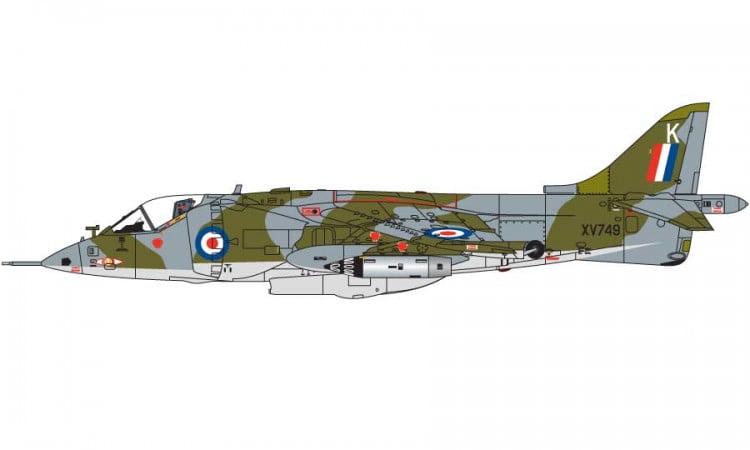 Airfix Hawker Siddeley Harrier Gr1 1 72 Scale A03003