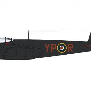 Side Airfix De Havilland Mosquito MkII VI XVIII 1:72 Scale A03019