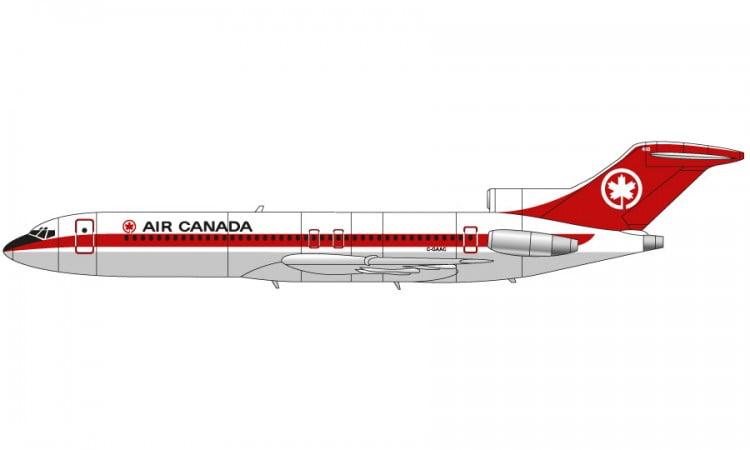 Air Canada Airfix Boeing 727 1:144 Scale A04177A