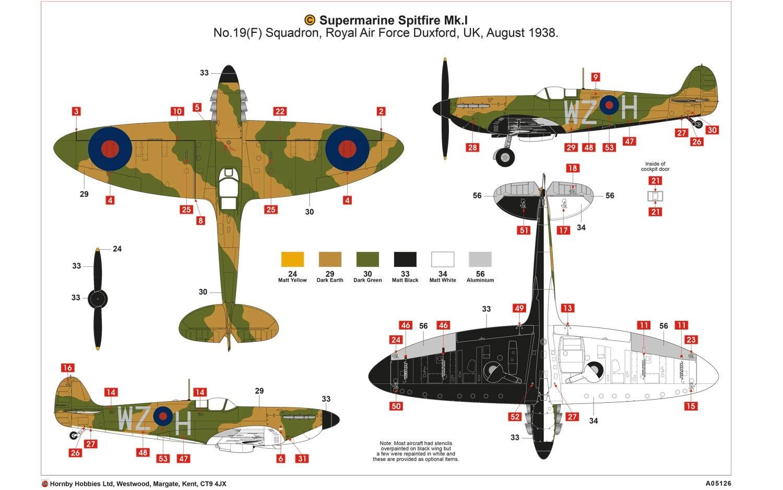 Airfix Supermarine Spitfire Mk I 1 48 Scale A05126