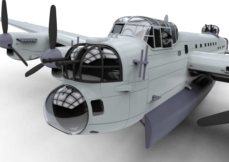 Detail Front Airfix Avro Lancaster BI F.E. BIII 1:72 Scale A08013