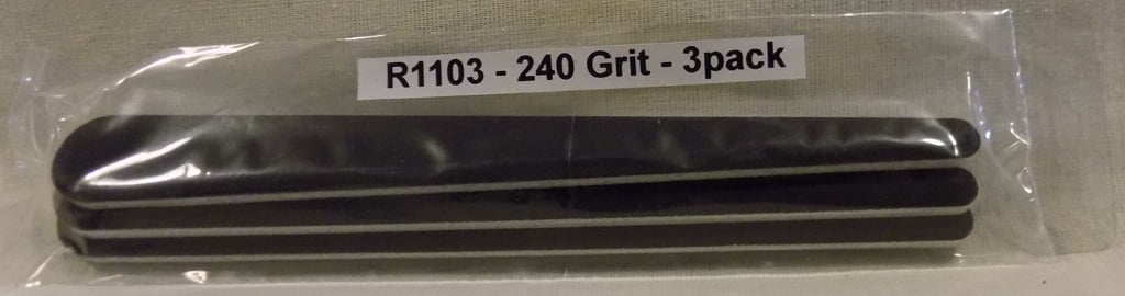 Alpha Abrasives Regular Tapered Files 240 Grit ALB R1103