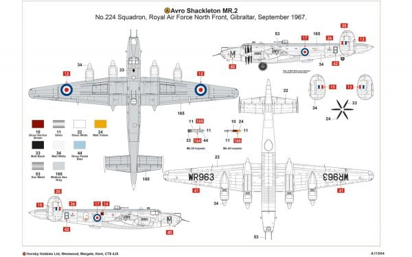 Layout Airfix Avro Shackleton MR2 1:72 Scale A11004