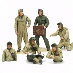 Tamiya US Tank Crew Set - European Theater 35 Scale 32587