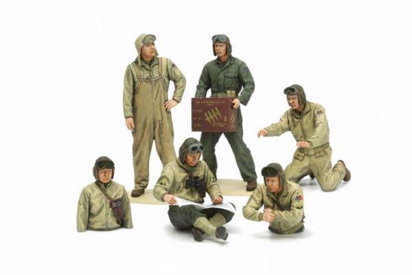 Tamiya US Tank Crew Set - European Theater 35 Scale 32587