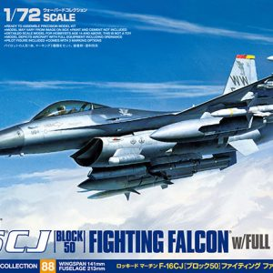 Box Tamiya F-16 CJ Fighting Falcon - Block 50 with Full Equipment 72 Scale 60788
