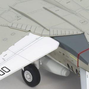 Wing Detail 2 Tamiya Grumman F-14A Tomcat 48 Scale 61114