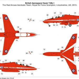 Layout Airfix RAF Red Arrows Hawk 1:72 Scale A02005C