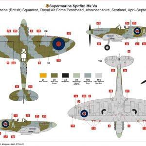 Layout 4 Airfix Supermarine Spitfire Mk.VA 1:72 Scale A02102